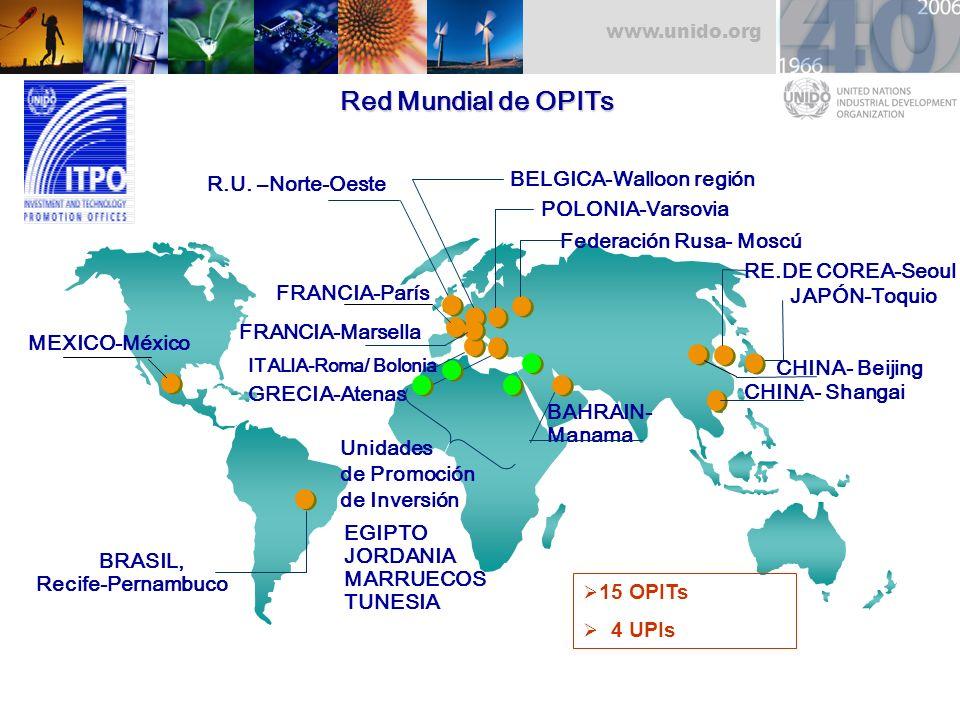 Red Mundial de OPITs BELGICA-Walloon región R.U. –Norte-Oeste