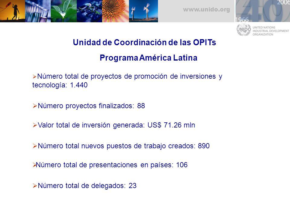 Unidad de Coordinación de las OPITs Programa América Latina