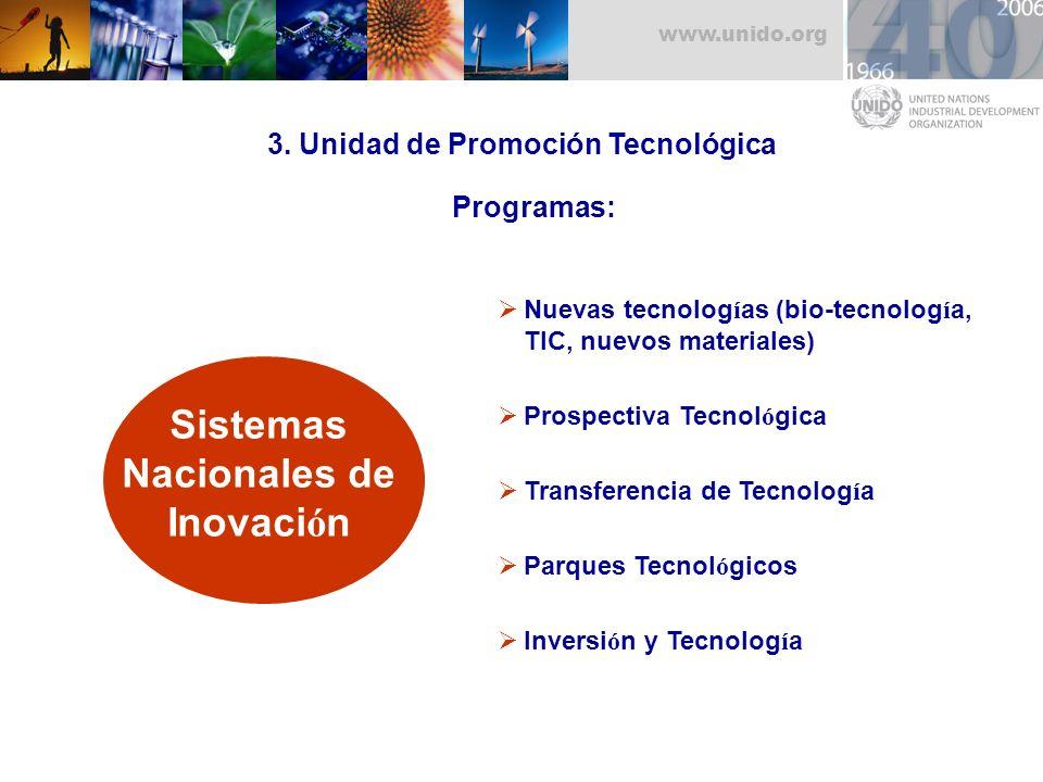 3. Unidad de Promoción Tecnológica Sistemas Nacionales de Inovación