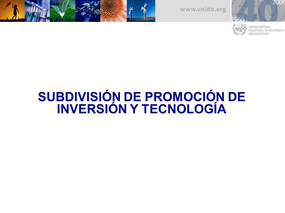 SUBDIVISIÓN DE PROMOCIÓN DE INVERSIÓN Y TECNOLOGÍA