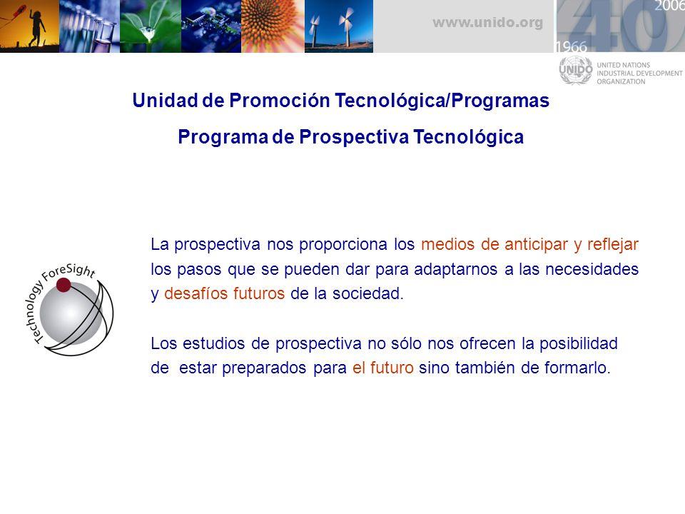 Unidad de Promoción Tecnológica/Programas Programa de Prospectiva Tecnológica