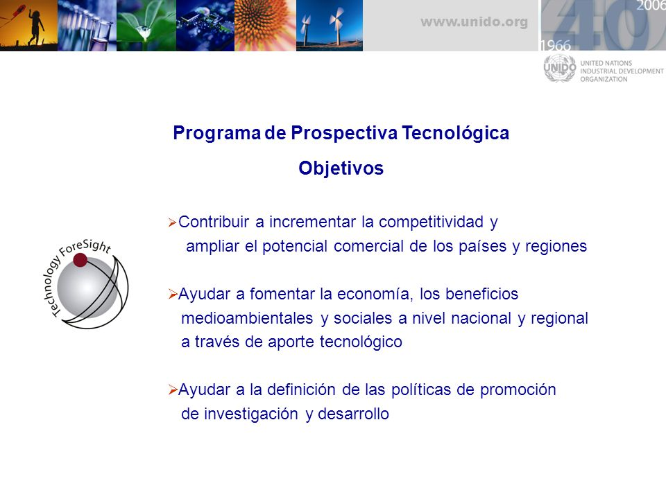 Programa de Prospectiva Tecnológica Objetivos