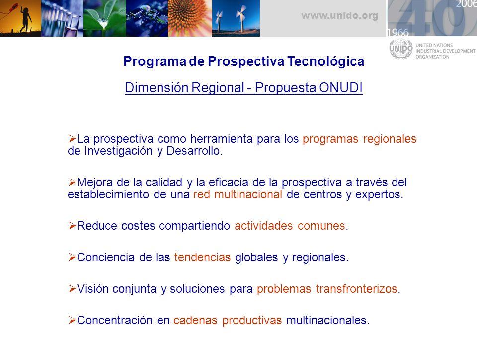 Programa de Prospectiva Tecnológica