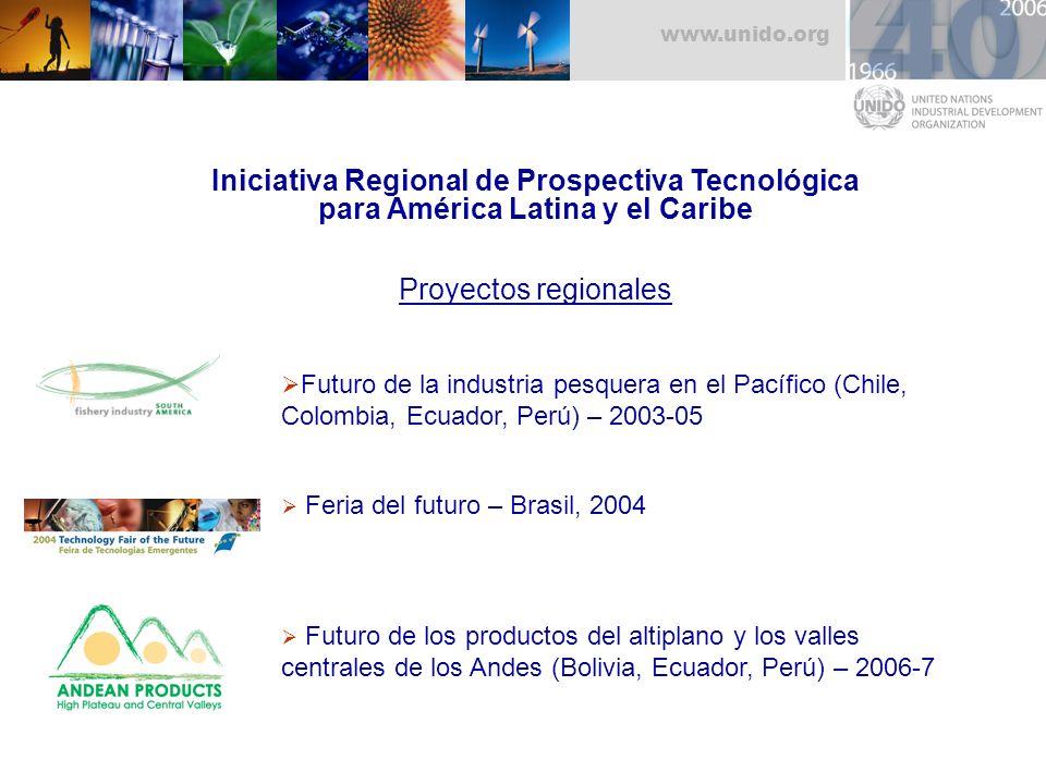 Iniciativa Regional de Prospectiva Tecnológica para América Latina y el Caribe Proyectos regionales