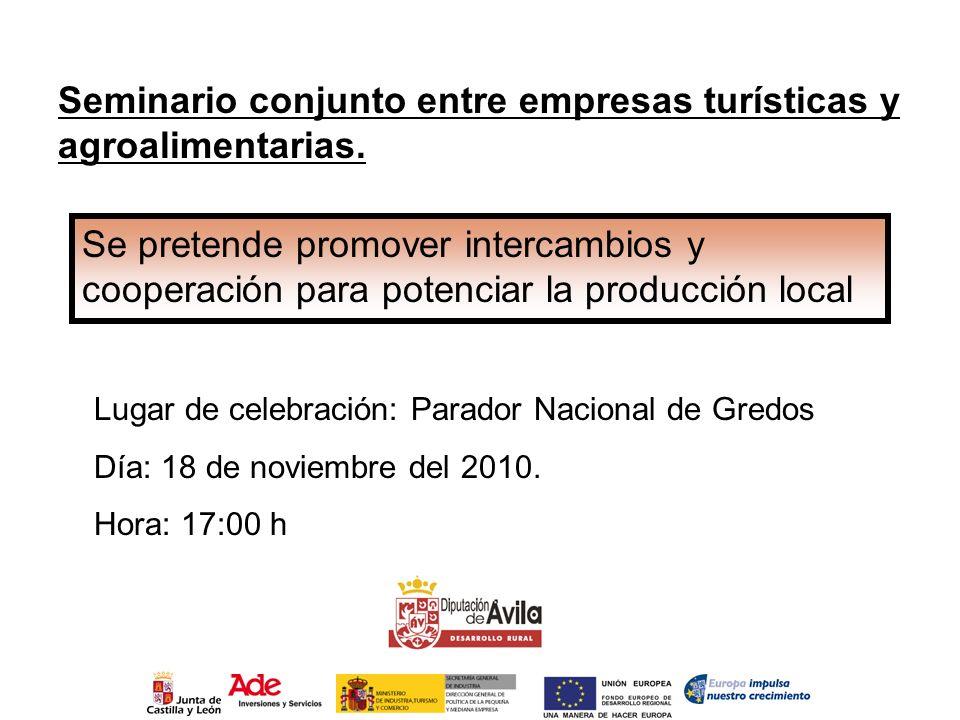 Seminario conjunto entre empresas turísticas y agroalimentarias.