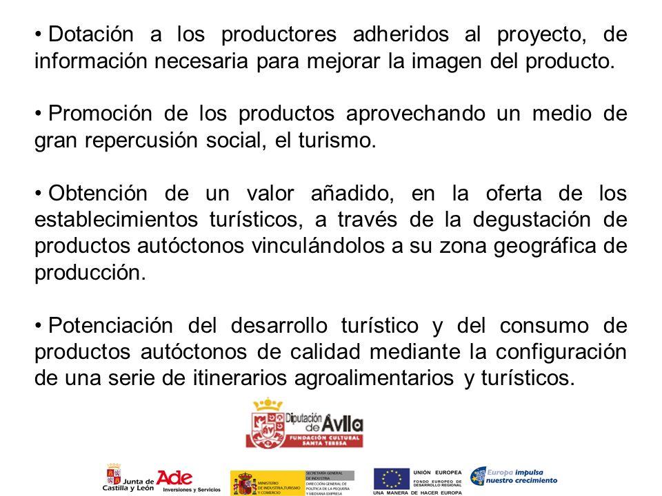 Dotación a los productores adheridos al proyecto, de información necesaria para mejorar la imagen del producto.