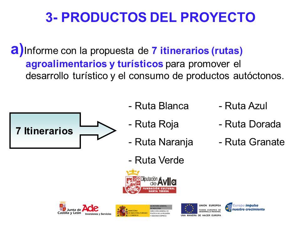 3- PRODUCTOS DEL PROYECTO