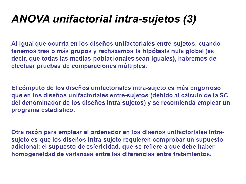 ANOVA unifactorial intra-sujetos (3)