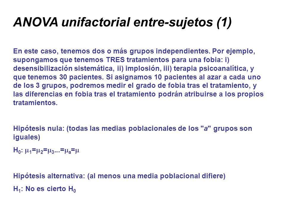 ANOVA unifactorial entre-sujetos (1)