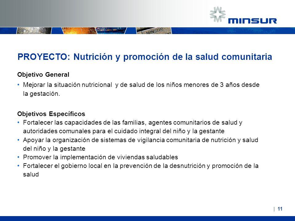 PROYECTO: Nutrición y promoción de la salud comunitaria