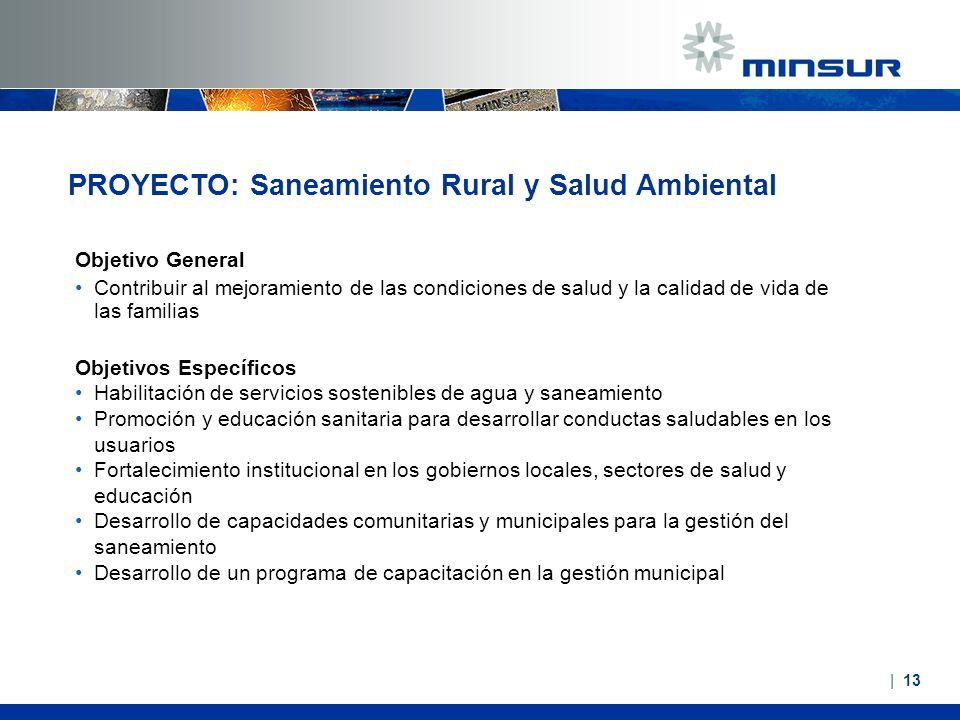 PROYECTO: Saneamiento Rural y Salud Ambiental
