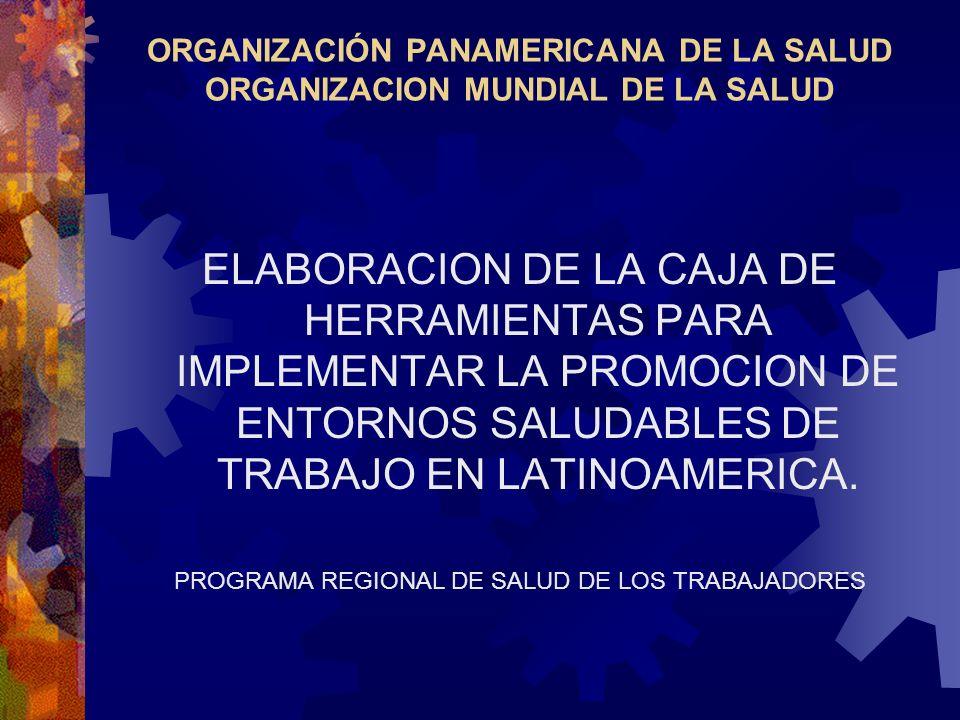 ORGANIZACIÓN PANAMERICANA DE LA SALUD ORGANIZACION MUNDIAL DE LA SALUD