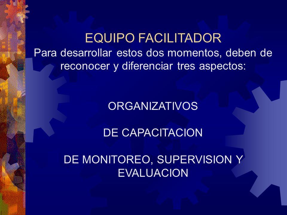 DE MONITOREO, SUPERVISION Y