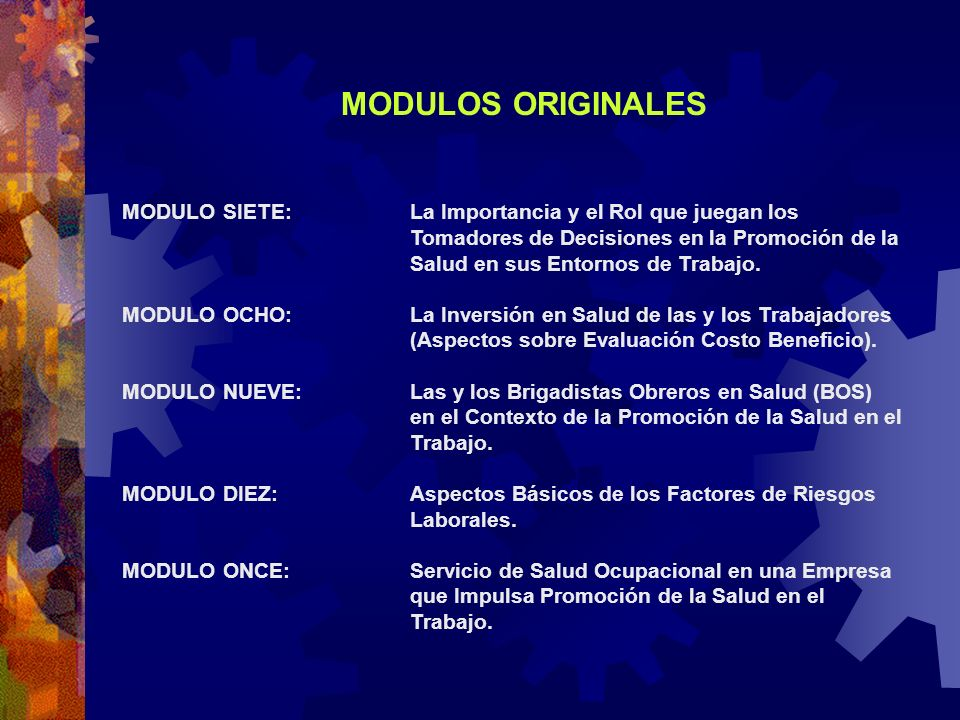 MODULOS ORIGINALES