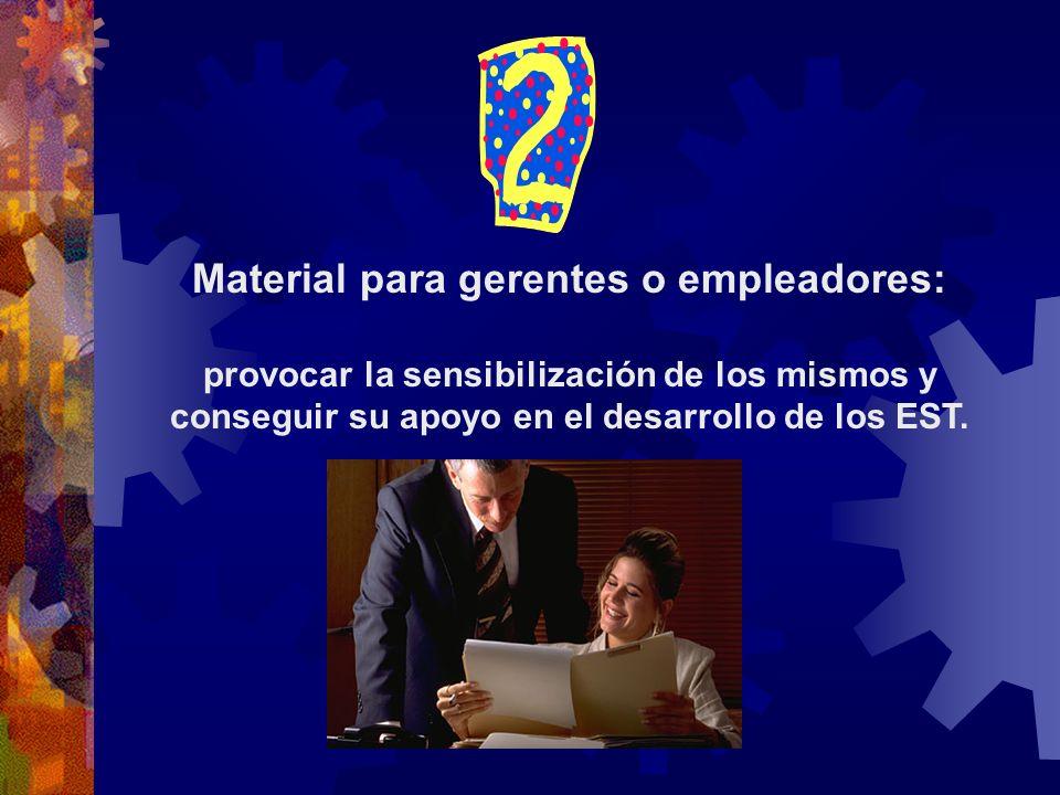 Material para gerentes o empleadores: