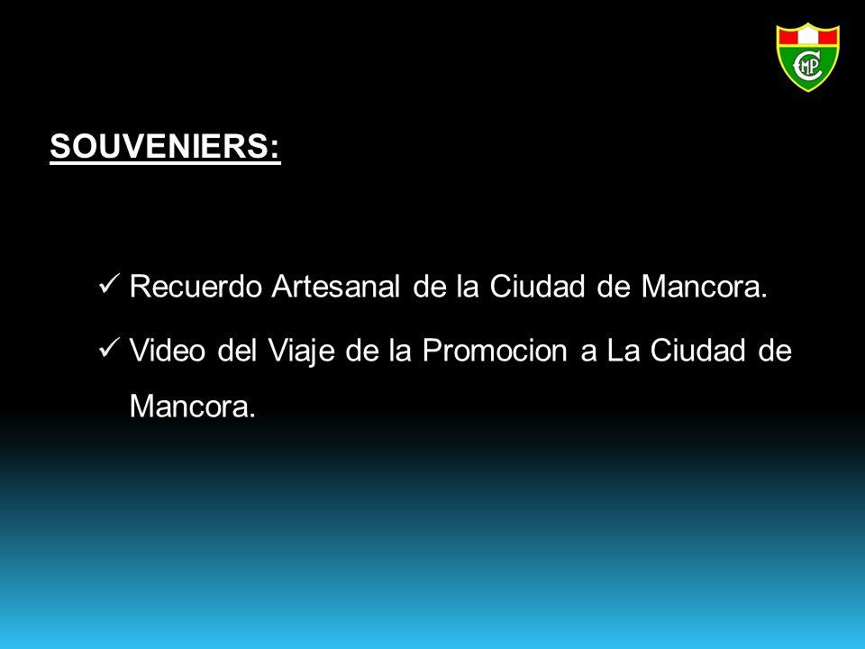 SOUVENIERS: Recuerdo Artesanal de la Ciudad de Mancora.