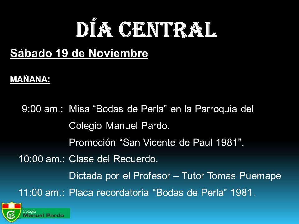 día central Sábado 19 de Noviembre