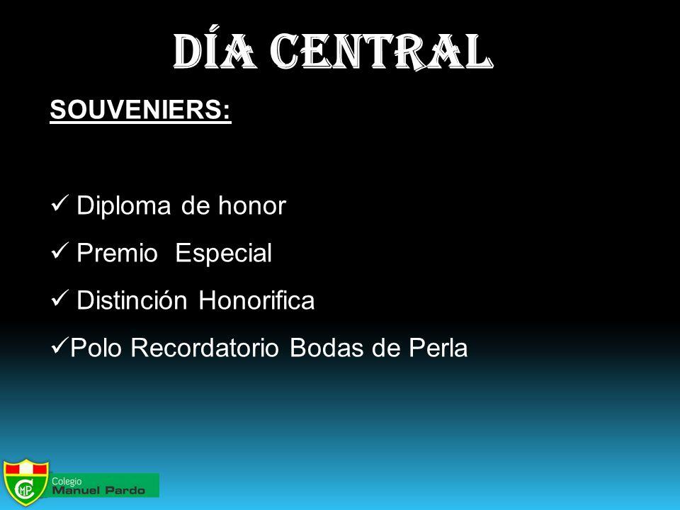 día central SOUVENIERS: Diploma de honor Premio Especial