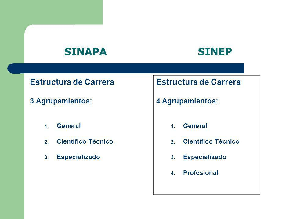 SINAPA SINEP Estructura de Carrera Estructura de Carrera