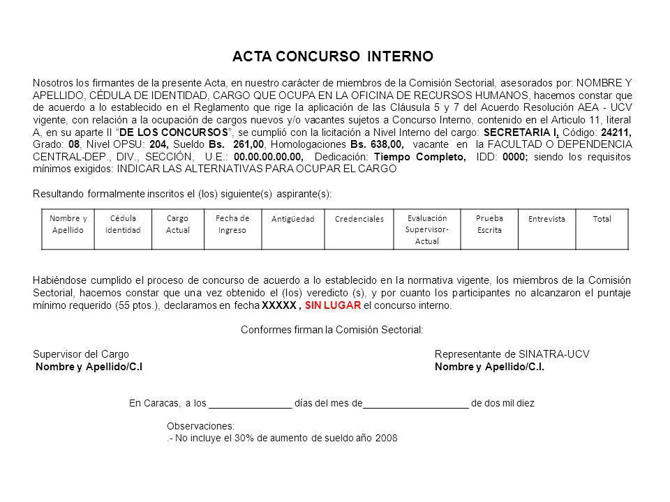 ACTA CONCURSO INTERNO