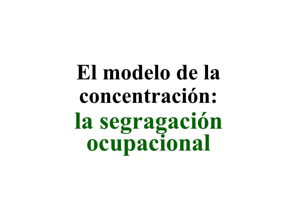 la segragación ocupacional