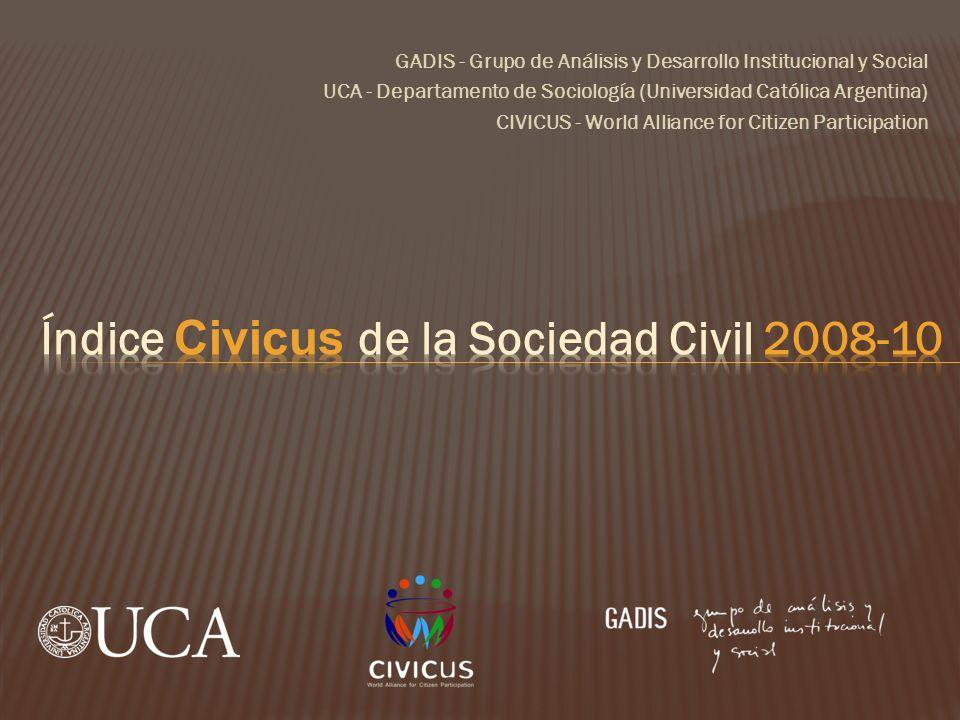 Índice Civicus de la Sociedad Civil 2008-10