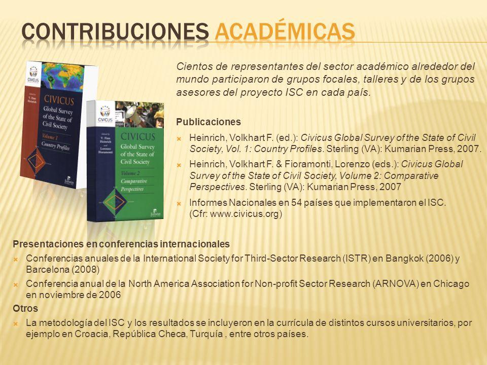 Contribuciones académicas