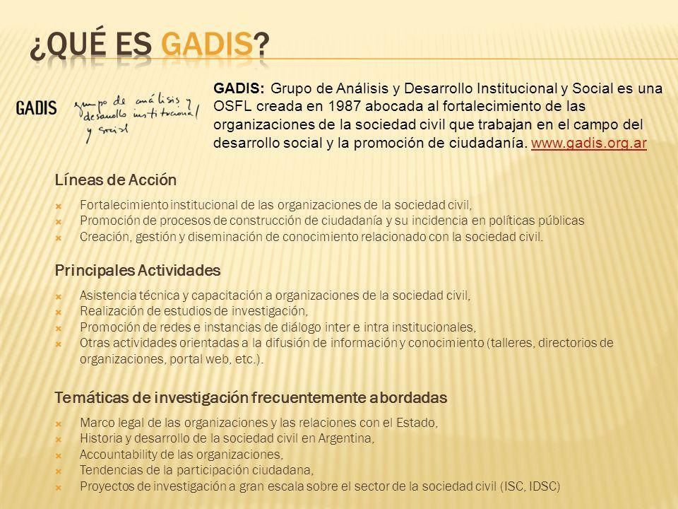 ¿Qué es GADIS Líneas de Acción Principales Actividades