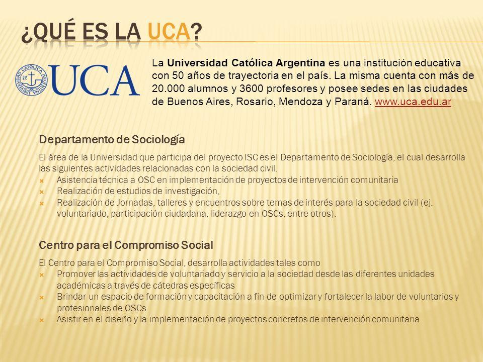 ¿Qué es la UCA Departamento de Sociología