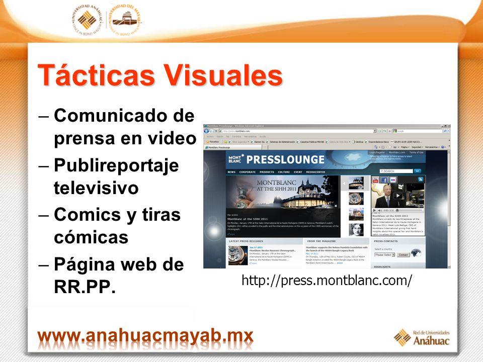 Tácticas Visuales Comunicado de prensa en video