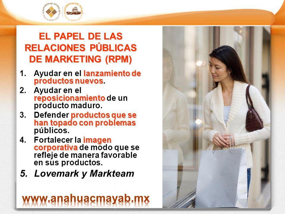EL PAPEL DE LAS RELACIONES PÚBLICAS DE MARKETING (RPM)