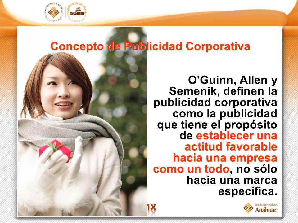 Concepto de Publicidad Corporativa