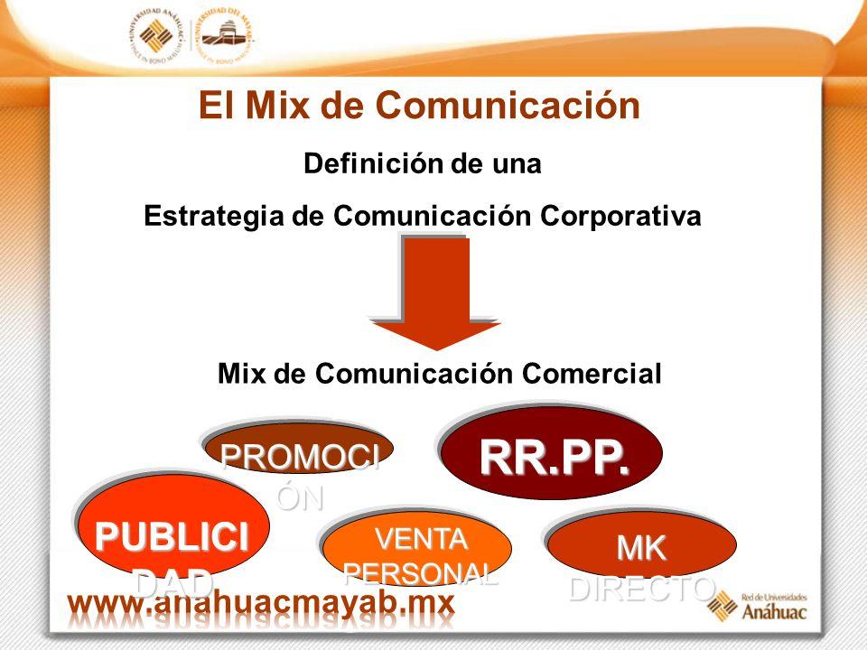 Mix de Comunicación Comercial Estrategia de Comunicación Corporativa