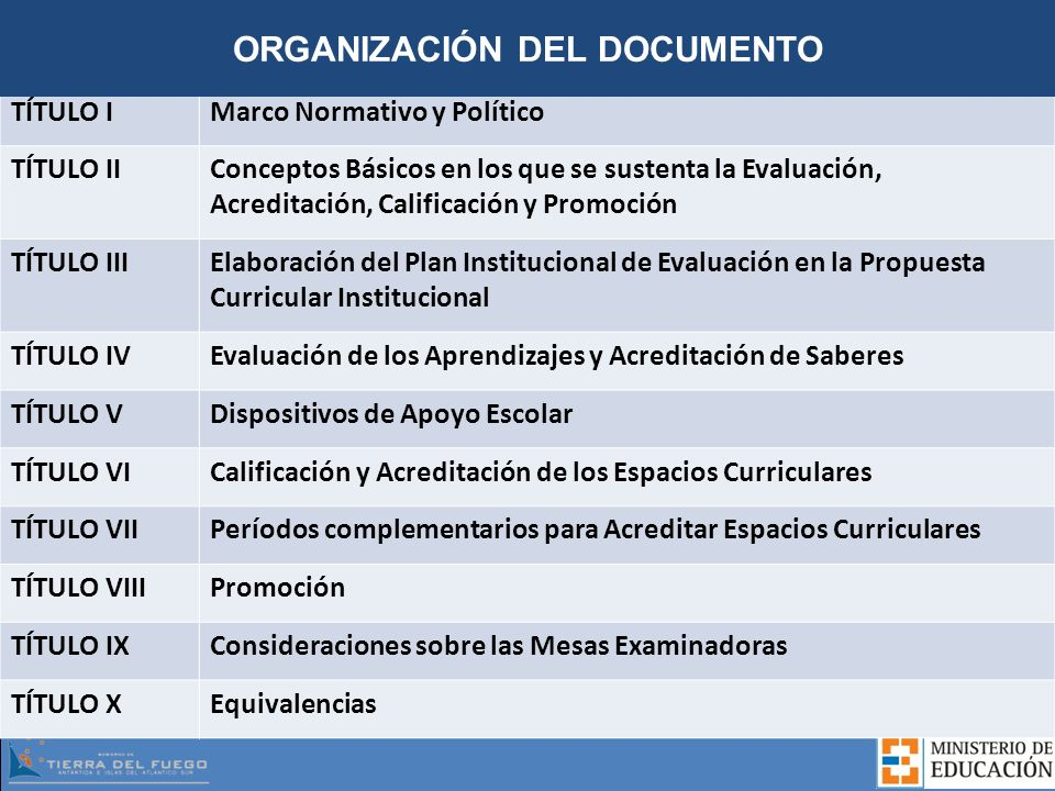 ORGANIZACIÓN DEL DOCUMENTO