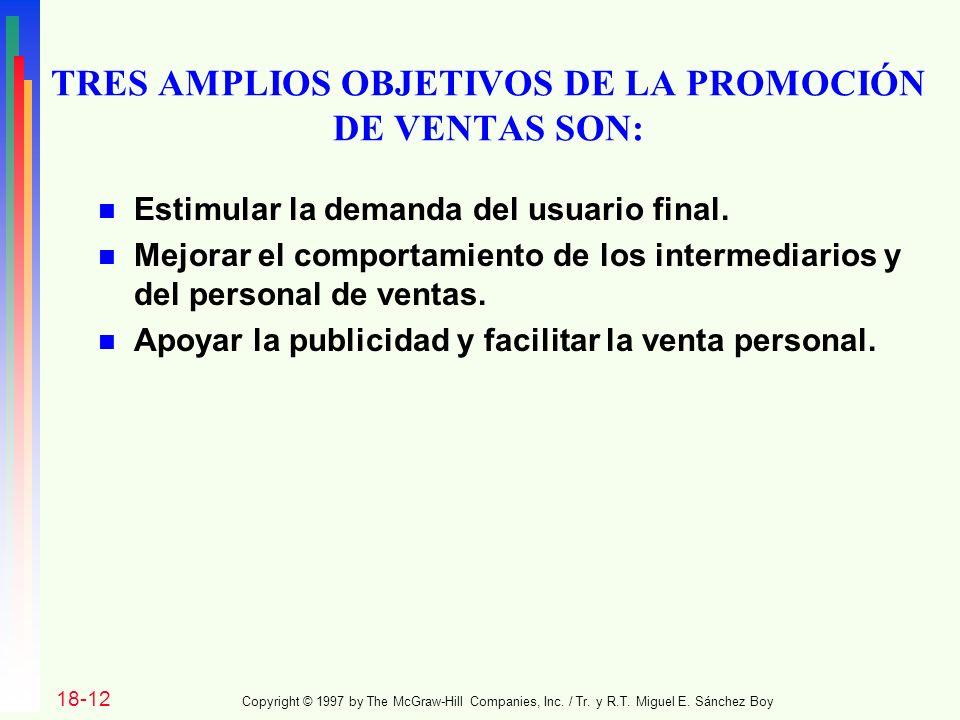 TRES AMPLIOS OBJETIVOS DE LA PROMOCIÓN DE VENTAS SON: