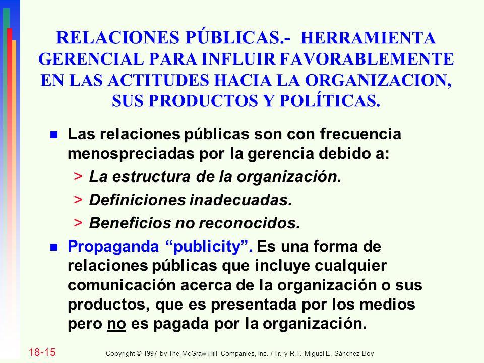RELACIONES PÚBLICAS.- HERRAMIENTA GERENCIAL PARA INFLUIR FAVORABLEMENTE EN LAS ACTITUDES HACIA LA ORGANIZACION, SUS PRODUCTOS Y POLÍTICAS.