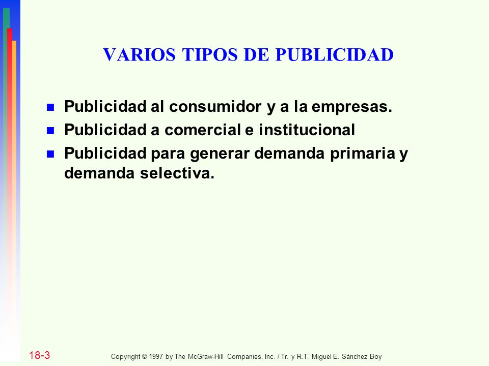 VARIOS TIPOS DE PUBLICIDAD