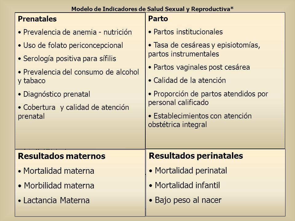 Modelo de Indicadores de Salud Sexual y Reproductiva*