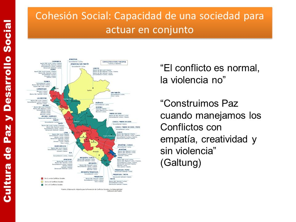 Cohesión Social: Capacidad de una sociedad para actuar en conjunto