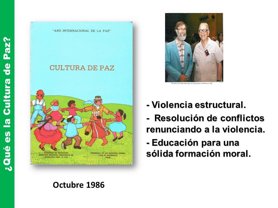 ¿Qué es la Cultura de Paz