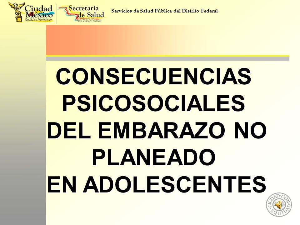 CONSECUENCIAS PSICOSOCIALES DEL EMBARAZO NO PLANEADO
