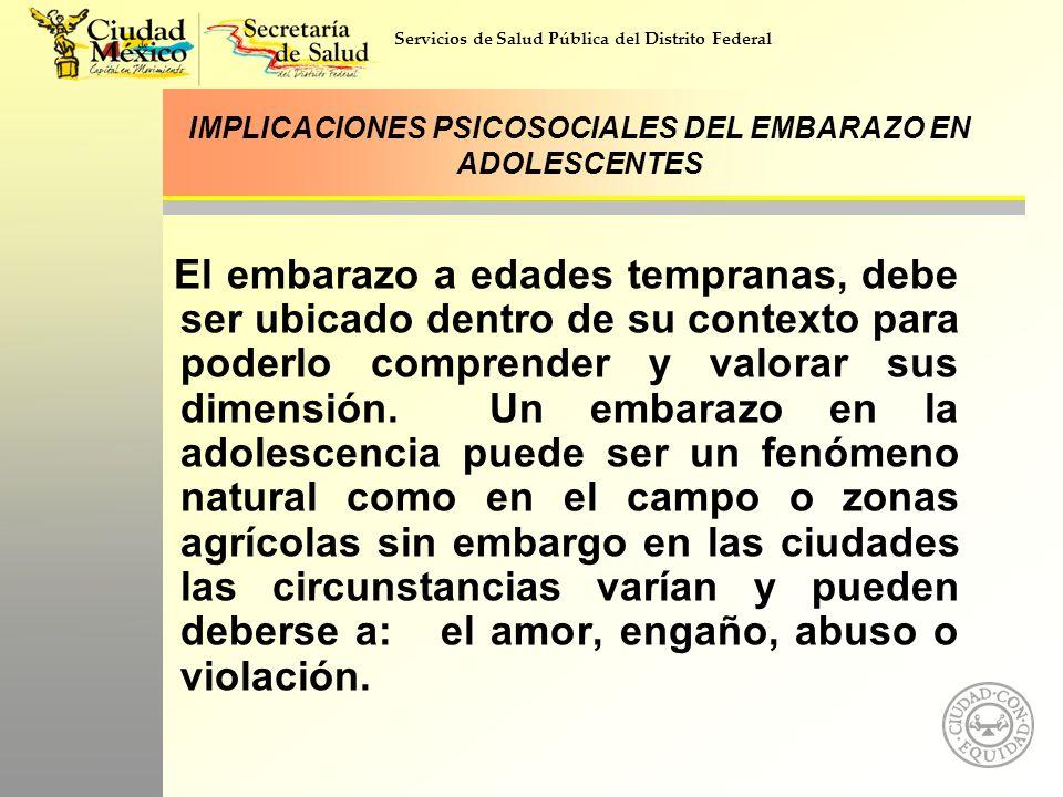 IMPLICACIONES PSICOSOCIALES DEL EMBARAZO EN ADOLESCENTES