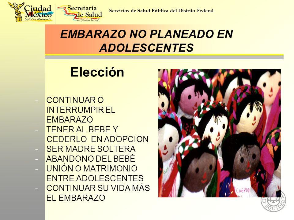 EMBARAZO NO PLANEADO EN ADOLESCENTES