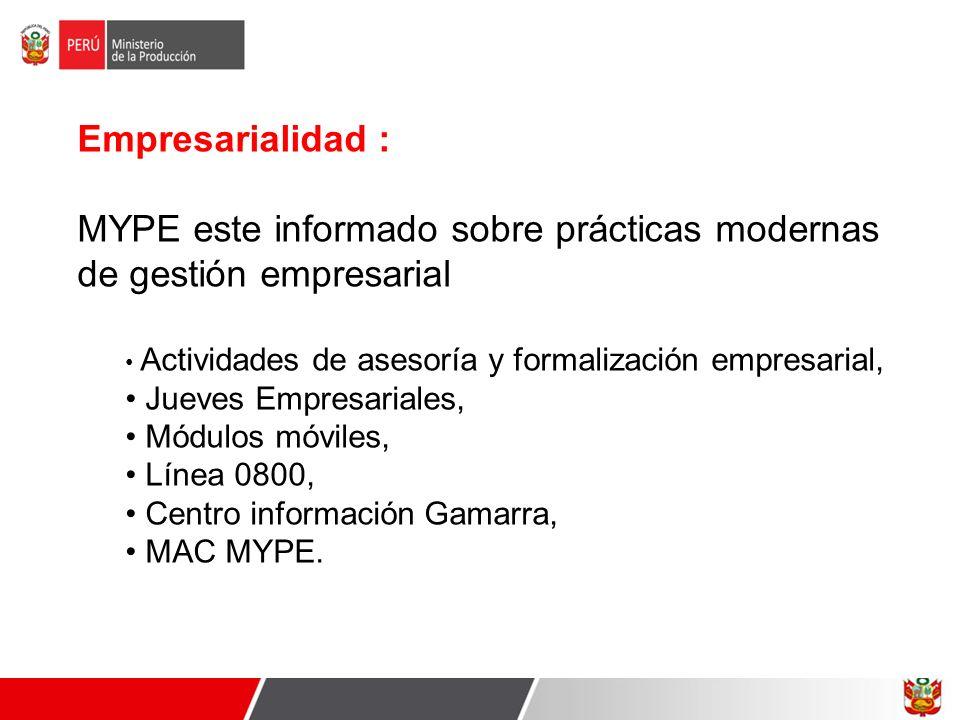MYPE este informado sobre prácticas modernas de gestión empresarial