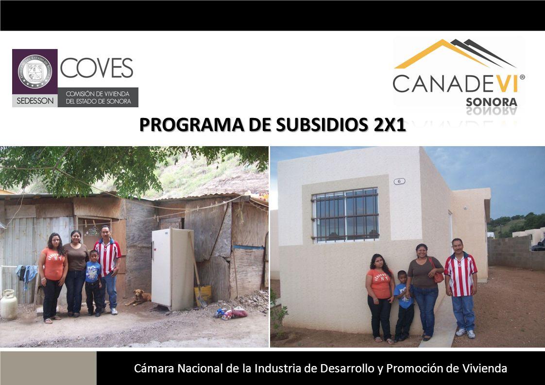 PROGRAMA DE SUBSIDIOS 2X1