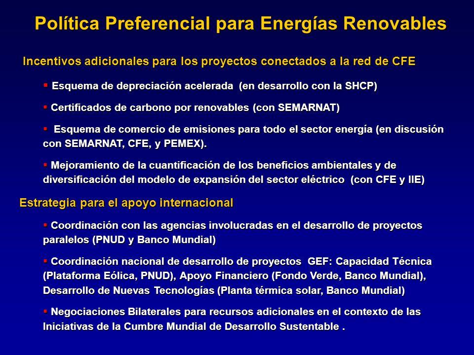 Política Preferencial para Energías Renovables