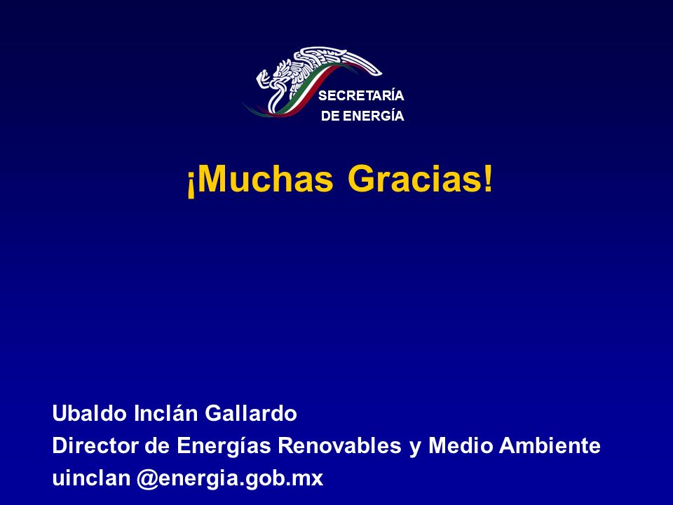 ¡Muchas Gracias! Ubaldo Inclán Gallardo