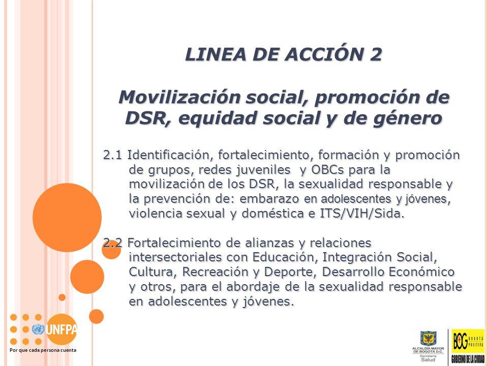 Movilización social, promoción de DSR, equidad social y de género