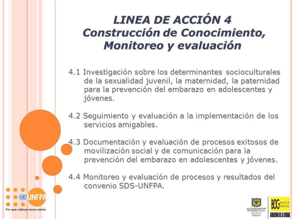 LINEA DE ACCIÓN 4 Construcción de Conocimiento, Monitoreo y evaluación