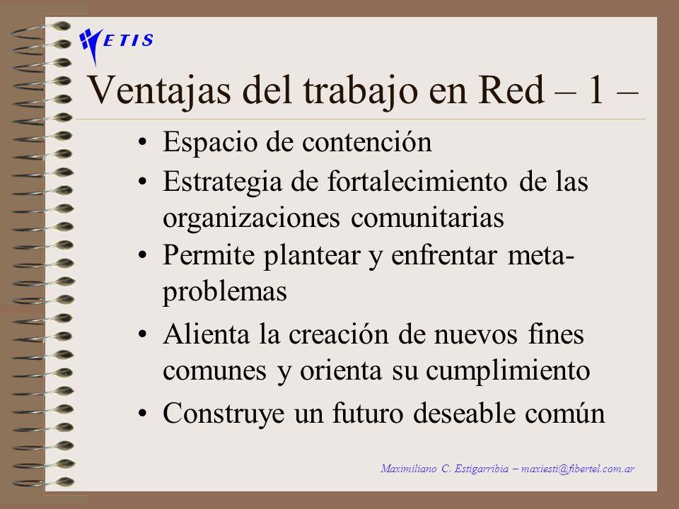 Ventajas del trabajo en Red – 1 –
